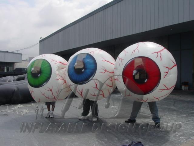 inflatable eyeball costume