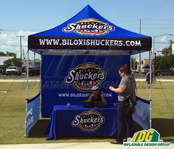 Biloxi Shuckers Vendor Tent & Vendor Tents with Graphics from Inflatable Design Group