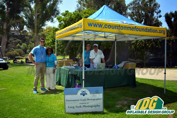 Count on Me Foundation 10 x 10 Vendor tent & Vendor Tents with Graphics from Inflatable Design Group