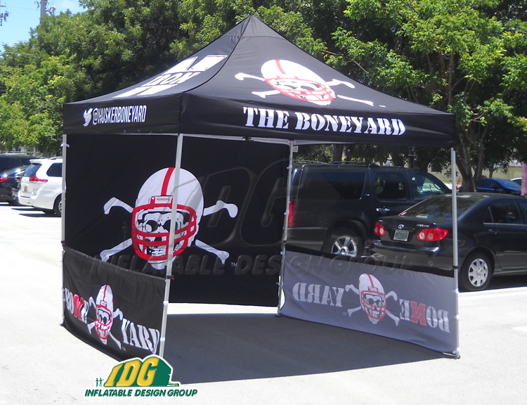 University of Nebraska Vendor Tent & Vendor Tents with Graphics from Inflatable Design Group