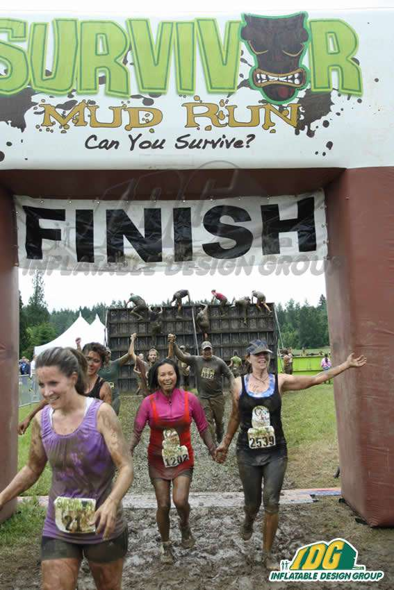 Inflatable Survivor Arch Mud Run