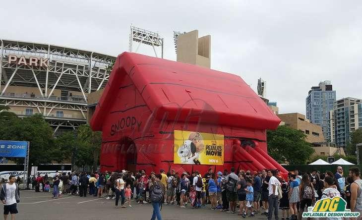 Custom Comic-Con inflatable Peanuts Movie Snoopy House