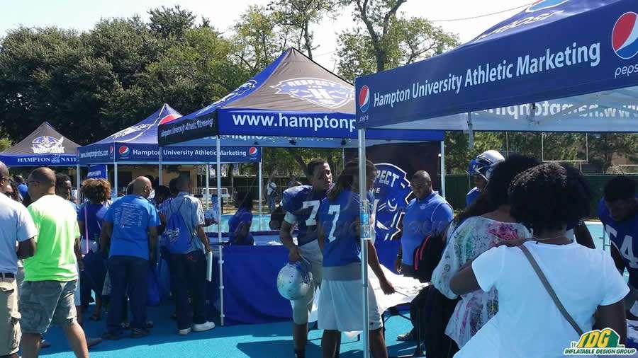 Hampton University Promotional Tent