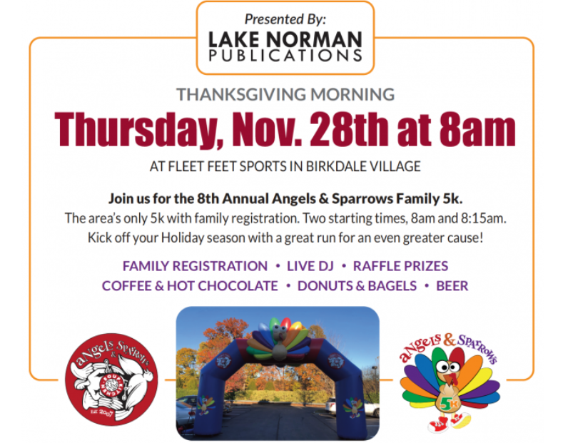 Angels and Sparrows Turkey Trot 2019 Flier