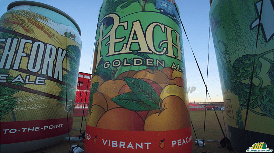 Inflatable Four Peaks Brewing Co. Cans