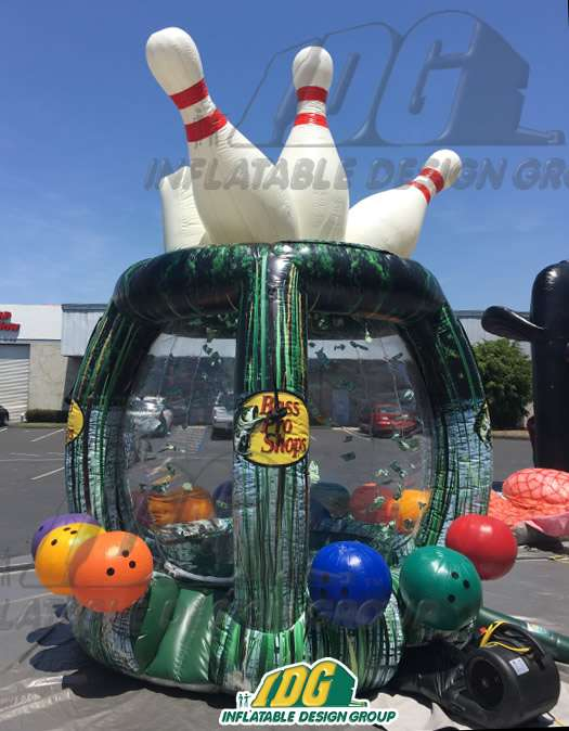 Inflatable Custom Bowling Cash Machine