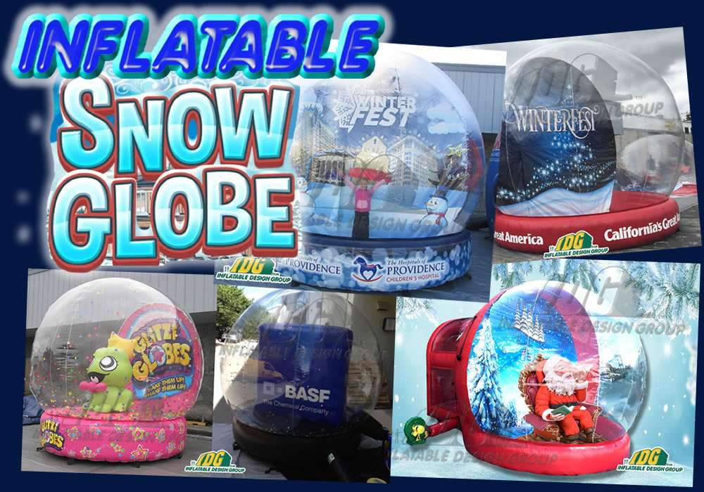 5 ways to promote your business or product with an INFLATABLE SNOW GLOBE 6